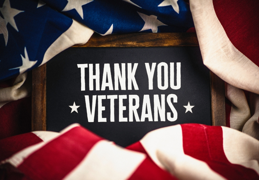 Thank you military veterans. US military veterans thank you message