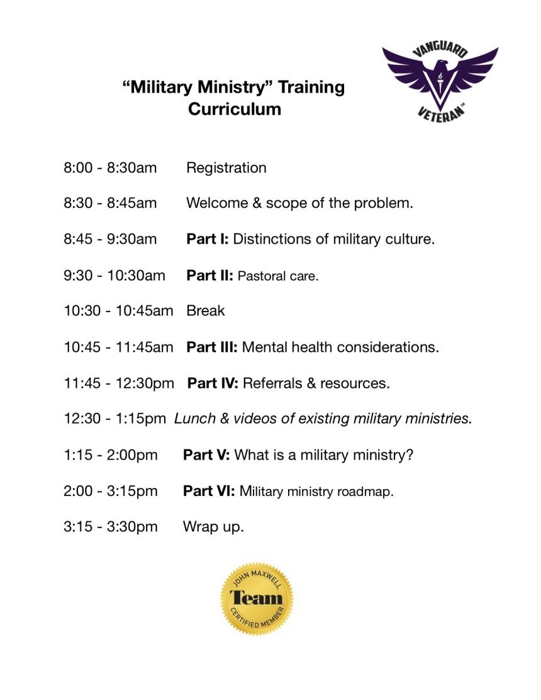 VIB Militry Ministry Training Agenda_VV